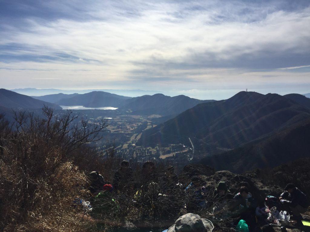 金時山から芦ノ湖