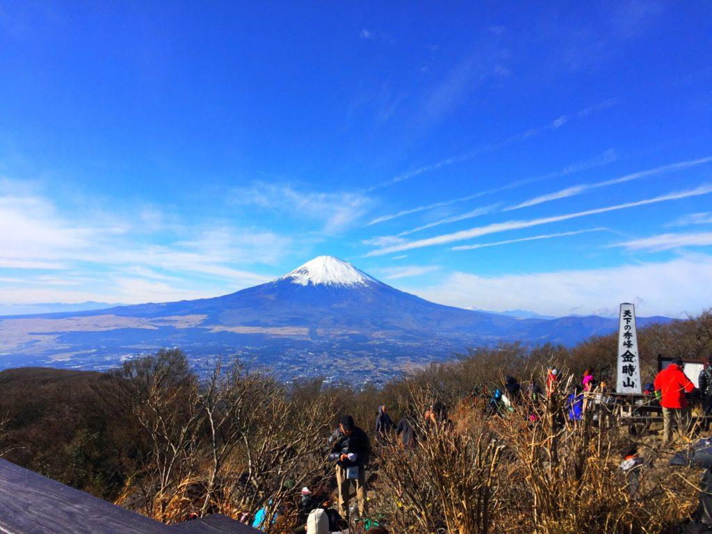 金時山から富士山